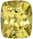 Attractive Bright  Unheated Sapphire Loose Gem in Cushion Cut, Rich Lemon Yellow, 5.3 x 4.4 mm 0.72 carats