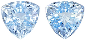 Blue Aquamarine Madagascar in Well Matched Pair in Trillion Cut, 6.6 mm, 2.09 Carats