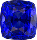 Deep Color in Blue Sapphire Genuine Faceted Ceylon Gem in Cushion Cut, 6.7 x 6.3 mm, 2.06 Carats
