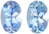 Fiery Blue Aquamarine from Nigeria in Well Matched Pair in Oval Cut, 6 x 4 mm, 0.84 Carats - SOLD