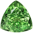 Incredible Green Garnet Loose Gemstone in Trillion Cut, Mint Green, 6.8 mm, 1.27 carats
