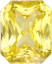 Rich Yellow Sapphire Loose Gem from Ceylon in Radiant Cut, 7 x 5.7 mm, 1.67 Carats