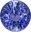 Untreated Cornflower Blue Sapphire Gem from Ceylon in Round Cut, 7.2 x 7.3 mm, 2.13 Carats - With GIA Certficate