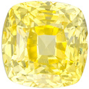 Untreated Vibrant Pure Yellow Ceylon Sapphire Loose Gem in Antique Square Cut, 6.8 x 6.7 mm, 2.36 Carats - With GIA Certficate - SOLD