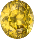 Vibrant Amber Yellow Zircon Loose Gem in Oval Cut from Madagascar in 12.0 x 10.3 mm, 7.52 Carats
