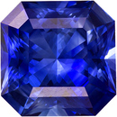 Vivid Color in Blue Sapphire Genuine Faceted Ceylon Gem in Radiant Cut, 6.9 mm, 1.75 Carats