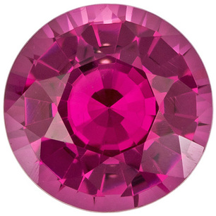 Round Rose Pink Spinel Loose Mahenge Gem Intense Rosy Pink Color, 8.4 mm, 2.5 Carats