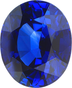 Top Quality Vivid Blue Oval Sapphire Loose Gemstone in Vivid Blue Color in 9.14 x 7.64 mm, 3.35 Carats - With CDC Certificate