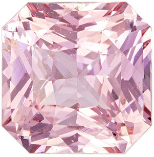 Rare Color in No Heat Sapphire Radiant Cut Gemstone Gorgeous Pink Orange Peach, 6.2 x 6.15 x 3.92 mm, 1.37 carats - With GIA Certificate
