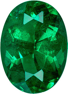 Alluring Brazilian Vivid Green Genuine Emerald Gemstone for SALE - Excellent Cut, 7 x 5.1 mm, Clarity & Life, Oval Cut, 7 x 5.1 mm, 0.82 carats