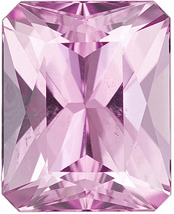 Unique Pink Kunzite Stone Discounted Gemstone for SALE! Radiant cut, 4.75 carats - SOLD