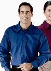 Men's Poplin Shirt Point Collar