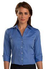 Ladies No-Iron Three Quarter Sleeve Server Blouse