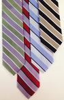 Waiter Wide Stripe Silk Tie