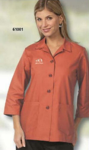 Ladies fitted three quarter sleeve smock for Spa uniform patterns