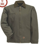 Industrial Work Heavy Washed Gasoline Jacket