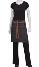 Denim Two Pocket Restaurant Half Bistro Apron