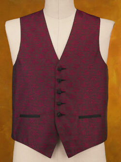 Ladies Jacquard Paisley Vest