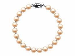 6.5 x 7mm Peach Freshwater Pearl Bracelet