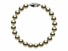 6.5 x 7mm Pistachio Freshwater Pearl Bracelet