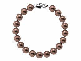 7.5 x 8mm Mocha Freshwater Pearl Bracelet