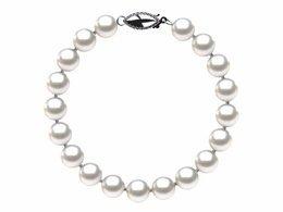 7.5 x 8mm White Freshwater Pearl Bracelet