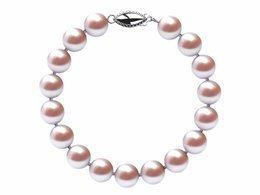 8.5 x 9mm Lavender Freshwater Pearl Bracelet