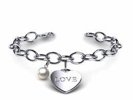 Japanese Akoya Pearl Heart Love Bracelet