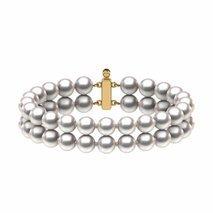 6.5 x 7mm Double Strand Japanese Akoya Pearl Bracelet