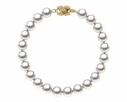 6.5 x 7mm Japanese Akoya Cultured Pearl Bracelet