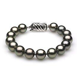 8 x 10mm Black Tahitian Pearl Bracelet