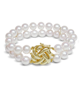 Double Strand Japanese Akoya Cultured Pearl Bracelets