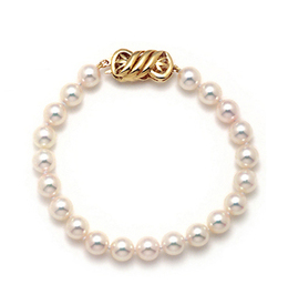 Single Strand Japanese Akoya Pearl Bracelet Section