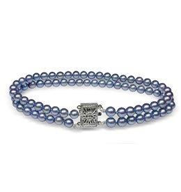 Mystic Blue Japanese Akoya Cultured Pearl Bracelet