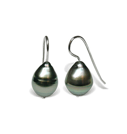 Eide in Black Tahitian Cultured Baroque Pearl Earring
