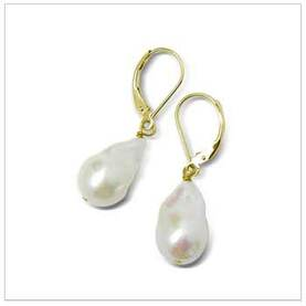 11 x 12mm Baroque Freshwater Pearl Earrings
