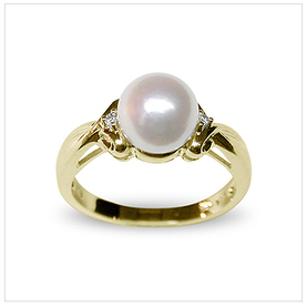Ruby a Japanese Akoya Cultured Pearl Ring