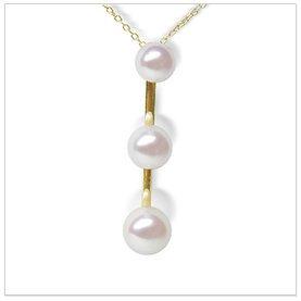 Japanese Akoya Three Pearl Pendant