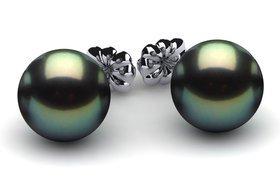 14mm Black South Sea Tahitian Pearl Earring