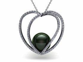 Tahitian Pearl 3D Heart Pendant