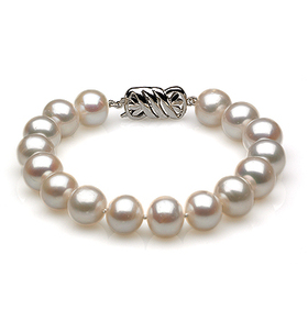 9 to 10mm White Australian South Sea Pearl Bracelet