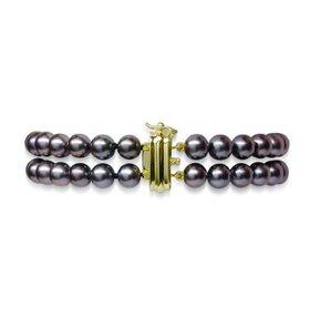 Double Strand Black Akoya Pearl Bracelet