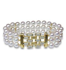 Triple Strand Cultured Pearl Bracelet - $3200