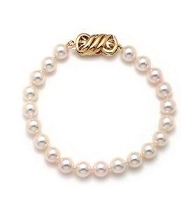 Single Strand Japanese Akoya Pearl Bracelet Section