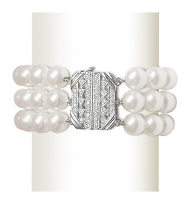 Penelope a Japanese Akoya Triple Strand Pearl Bracelet