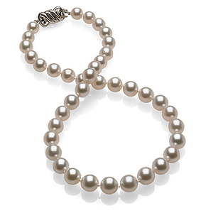 8.1 x 9.9mm White South Sea Pearl Necklace