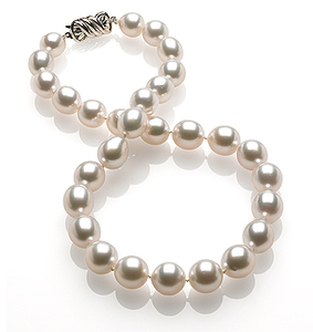 10 x 11.9mm White South Sea Pearl Necklace