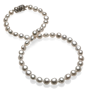 8 x 9.7mm Natural Pearl Keshi South Sea Necklace