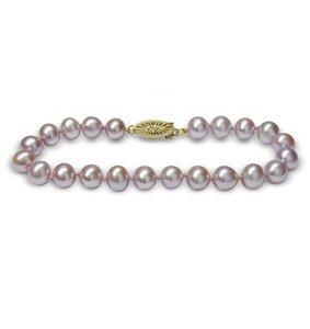 Lavender Freshwater Cultured Pearl Bracelet