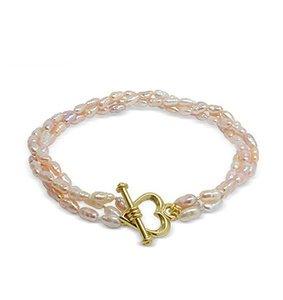 Peachy Lavender Baby Freshwater Pearl Bracelet
